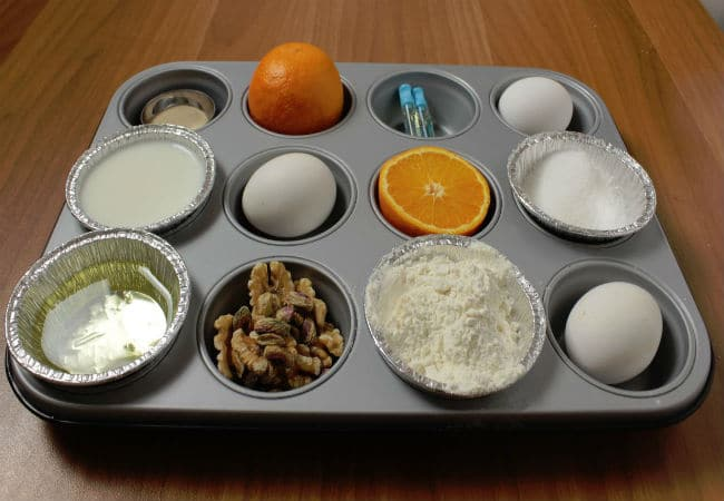 Ingredienti del muffin di albumi