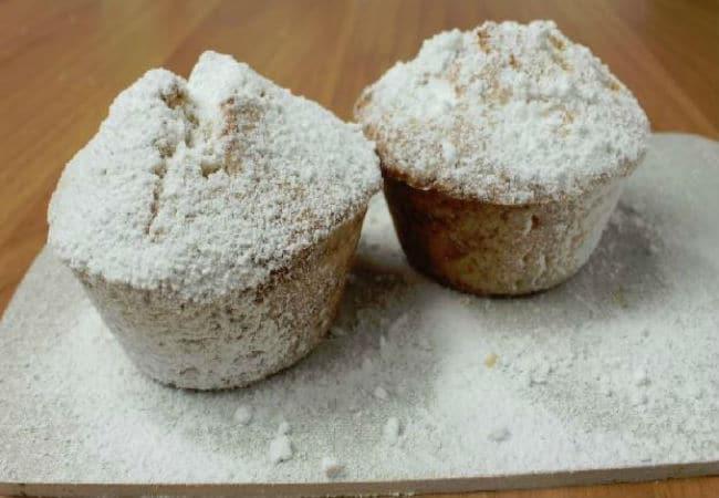 Muffin con zucchero a velo
