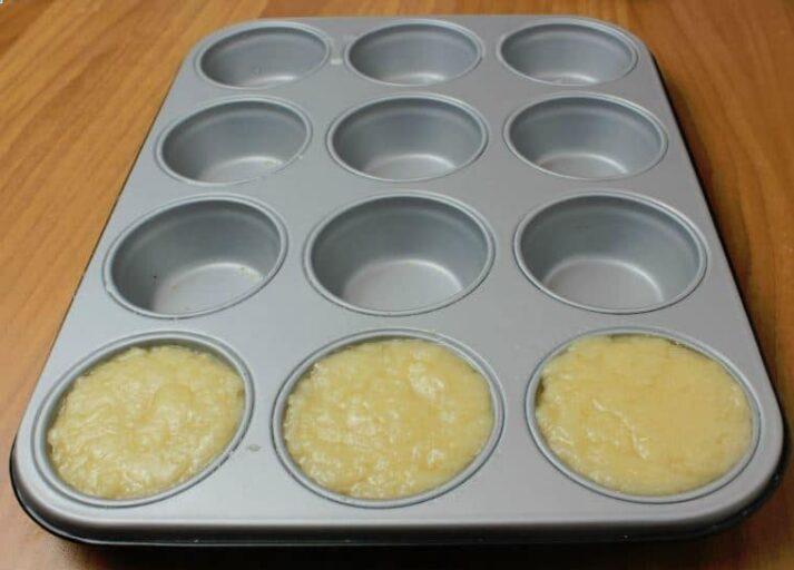 Muffin prima di lievitare