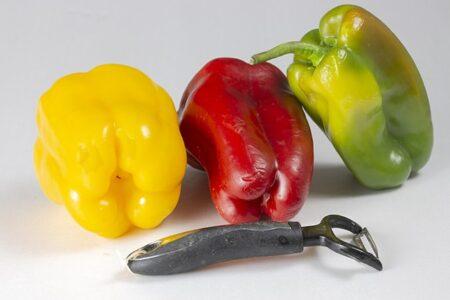 peperoni a 4 e 3 punte con pelaverdure