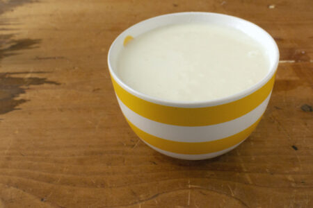 Latte panna e ricotta
