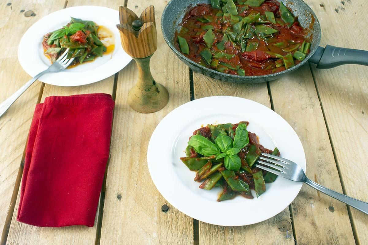 Taccole al pomodoro - Ricette Romane