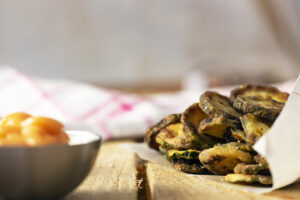 Chips di zucchine orizzontale