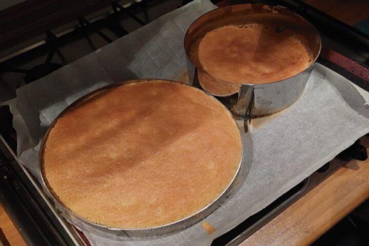 Pan di Spagna uscito dal forno